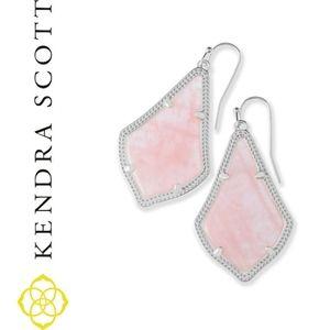 Kendra Scott Alex Silver Drop Earrings Rose Quartz